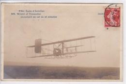 64 PAU école D'aviation Wright Et Tissandier Exécutant Un Vol  ,expéditeur Mr Rague Partie De Lorris Proposant Un Vol - Pau