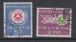Switzerland 1963 Dienst Uncsat 2v Used (42729D) - Dienstzegels