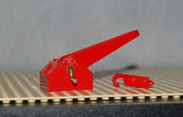 Lego Treuil Rouge Poignée Métal Bras De Grue Tambour Noir 4x4x2 Ref Bb72 Et Le Crochet Ref 3127b (complet Ref Bb72c01) - Lego Technic