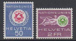 Switzerland 1963 Dienst Uncsat 2v ** Mnh (42729E) - Dienstzegels