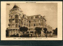 CPA - SAINT LUNAIRE - Le Grand Hôtel D'Angleterre, Animé - Automobiles - Saint-Lunaire