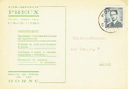 CP Publicitaire HORNU 1959 - Etablissements PREUX - Imprimerie - Mobilier De Bureaux - Machines à écrire... - Boussu