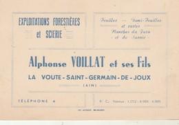 Carte De Visite : Ain : LA VOUTE - SAINT- GERMAIN-de-JOUX - Exploitations Forestières Et Scierie - VOILLAT Et Fils - France
