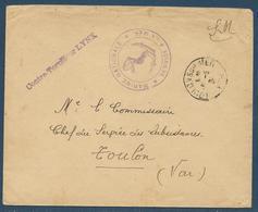 """Poste Navale : Griffe """"Contre-torpilleur Lynx"""" + Tàd Toulon Sur Mer 8.5.1939 - Marcophilie (Lettres)"""
