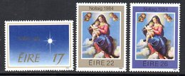 Ireland 1984 Christmas Set Of 3, MNH, SG 600/2 - 1949-... République D'Irlande