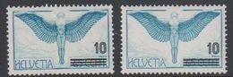 Switzerland 1938 Airmail (mit Aufdruck) 1v 2x ** Mnh (42729F) - Luchtpostzegels