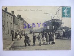 MOHON.    Rue Thiers.   Terminus Du Tramway.  Pub. Maggi - Chocolat Menier - Frankreich