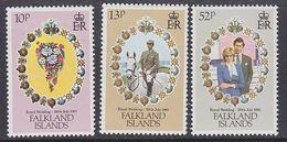 Falkland Islands 1981 Royal Wedding 3v ** Mnh (42731) - Falklandeilanden
