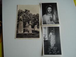 Walhain Saint Paul , Brabant Wallon , Lot De 3 Documents , Cp Vierge Monastère Carmel Zélateur + Christ 2 Photos - Walhain