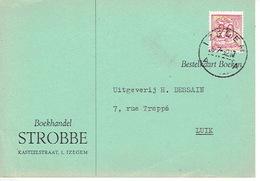 PK Publicitaire IZEGEM 1952 - Boekhandel STROBBE - Izegem