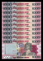 Sierra Leona Leone Lot Bundle 10 Banknotes 1000 Leones 2013 Pick 30b SC UNC - Sierra Leona