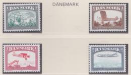Denmark 1981 History Of Danish Air Activities 4 Stamps MNH/** (H53) - Aerei