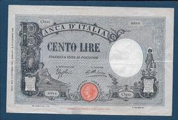 ITALIE - 100 Lire  Du  17 Ottobre 1934 - [ 1] …-1946 : Kingdom