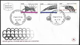 1976 - ISRAEL - FDC + Michel 672/674 [Montreal] + JERUSALEM - FDC