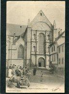 CPA - RENNES - L'Eglise St Germain Et Le Marché, Animé  (dos Non Divisé) - Rennes