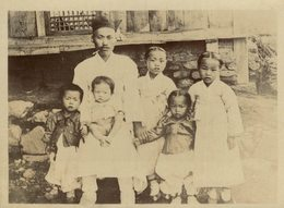 BOYS   ENFANTS COREENS COREAN KIDS   COREA KOREA COREE EAST ASIA  12 * 9 CM Fonds Victor FORBIN 1864-1947 - Fotos
