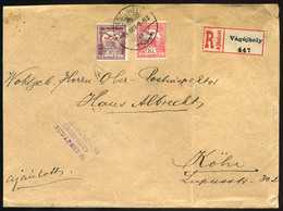 VÁGÚJHELY / Nové Mesto Nad Váhom  1915. Ajánlott Cenzúrázott Hadi Segély-Turul Levél Kölnbe Küldve - Hungary