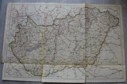 1929.. Magyarország Térkép - Vieux Papiers