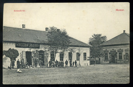 MONOR Kossuth Tér, Somogyi Pál üzlete, Keller József Vegyeskereskedése Régi Képeslap  /  Kossuth Sq. Pál Somogyi's Store - Hungary