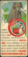 SZÁMOLÓ CÉDULA 1910-20. Cca. Régi Reklám Grafika , TEMESVÁR Emke Cipőkrém - Old Paper