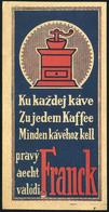 SZÁMOLÓ CÉDULA 1910-20. Cca. Régi Reklám Grafika , Frank , Szlovák - Vieux Papiers