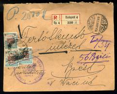 BUDAPEST 1924. Helyi Portózott, Ajánlott Levél - Ungheria