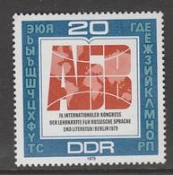 TIMBRE NEUF D'ALLEMAGNE ORIENTALE - 4E CONGRES INTERNATIONAL DES PROFESSEURS ET LITTERATEURS DE LANGUE RUSSE N° Y&T 2108 - Langues