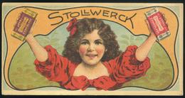 SZÁMOLÓ CÉDULA  Régi Reklám Grafika , Stollwerck  /  Vintage Adv. Graphics BAR TAB - Vieux Papiers