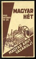 SZÁMOLÓ CÉDULA  Régi Reklám Grafika , Magyar Hét, Bortnyik  /  Vintage Adv. Graphics BAR TAB, Hun. Week, Botnyik - Vieux Papiers