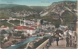 AK Travnik Травник Traunik Dolnja Carsija Moschee Mosquee Bosnien Herzegowina Bosnie Timbre Briefmarke K U K Militärpost - Bosnien-Herzegowina