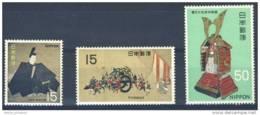 D - [DEL-067-1]TB//-c:7e-Japan N° 915/17, Trésors Nationaux, Période Kamakura, Art, Fine **/MNH Value 7 Eur - Neufs