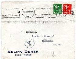 Carta Circulada  De 1943  Con Viñeta Por Detras. Noruega. - Noruega
