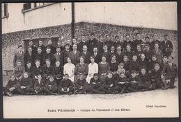 CPA - 77, CHAMPAGNE SUR SEINE, Ecole Pittsburgh, Group Du Personnel Et Des Eleves - Champagne Sur Seine