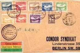 Frontal De Carta De Bolivia De 1930 LLoyds Aereo. Sindicato Condor. - Bolivia