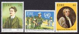 Ireland 1985 Anniversaries Set Of 3, MNH, SG 618/20 - 1949-... République D'Irlande