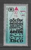 TIMBRE NEUF D'ALLEMAGNE ORIENTALE - ANNEE INTERNATIONALE DE L'ALPHABETISATION N° Y&T 2956 - Timbres