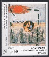 VENEZUELA - 1992 SEVILLE WORLD FAIR  M1124B - 1992 – Siviglia (Spagna)
