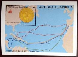 Antigua 1988 Columbus Minisheet MNH - Antigua And Barbuda (1981-...)