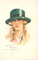 Vrouw Met Hoed        (fantasie  /  Illustrator Georges Wambach)) - Vrouwen