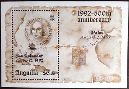 Anguilla 1992 Columbus Minisheet MNH - Anguilla (1968-...)
