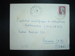 LETTRE TP M. DE DECARIS 0,25 OBL. Tiretée 27-8 1964 ST LEONARD VOSGES (88) - Marcophilie (Lettres)