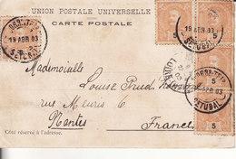 - 1903 - SETUBAL (Portugual) Vers NANTES (France) Sur Carte Postale Ancienne En Bon état - - Lettres & Documents