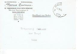 """PK Publicitaire MALDEGEM 1959 - """"MEVROUW COURTMANS"""" R. VERHOEIJE-VAN DEN BERGHE - Boekbinderij - Boekhandel - Maldegem"""