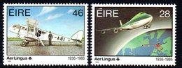 Ireland 1986 50th Anniversary Of Aer Lingus Set Of 2, MNH, SG 637/8 - 1949-... République D'Irlande