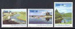 Ireland 1986 Irish Waterways Set Of 3, MNH, SG 639/41 - 1949-... République D'Irlande