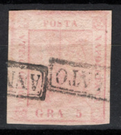 Napoli 1858 Sass.8 O/Used VF/F - Napoli