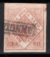 Napoli 1858 Sass.12 O/Used VF/ F - Cert.Raybaudi - Naples