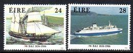 Ireland 1986 B&I Steam Packet Company Ships Set Of 2, MNH, SG 642/3 - 1949-... République D'Irlande