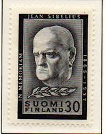 PIA - FINLANDIA - 1957  : Morte Del Compositore Jean Sibelius -   (Yv  468) - Musica