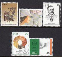 Ireland 1986 Anniversaries & Commemorations Set Of 5, MNH, SG 646/50 - 1949-... République D'Irlande